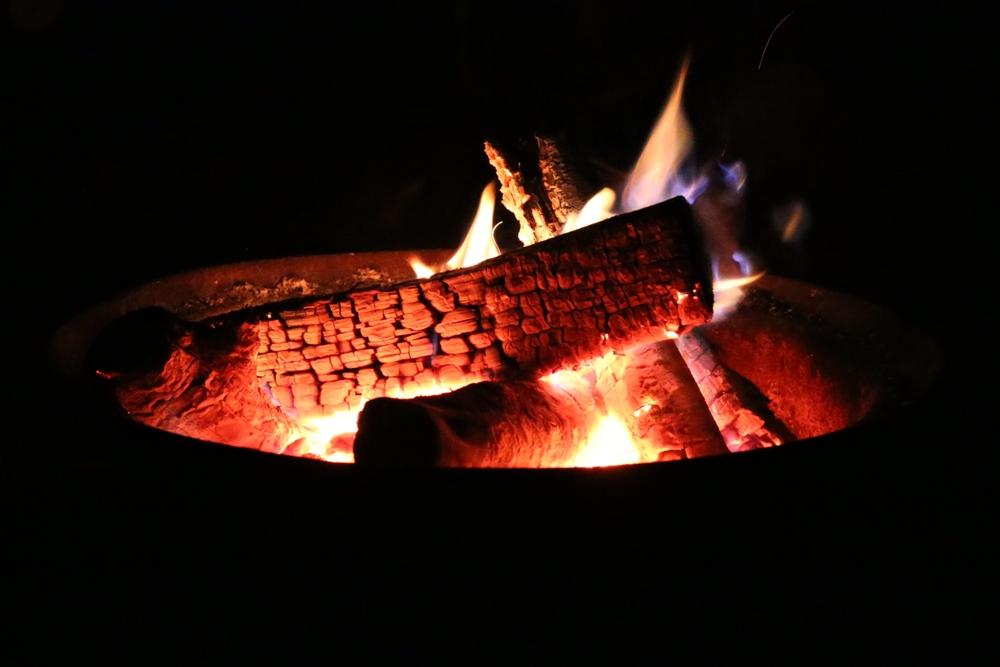 campfire at du gouffre