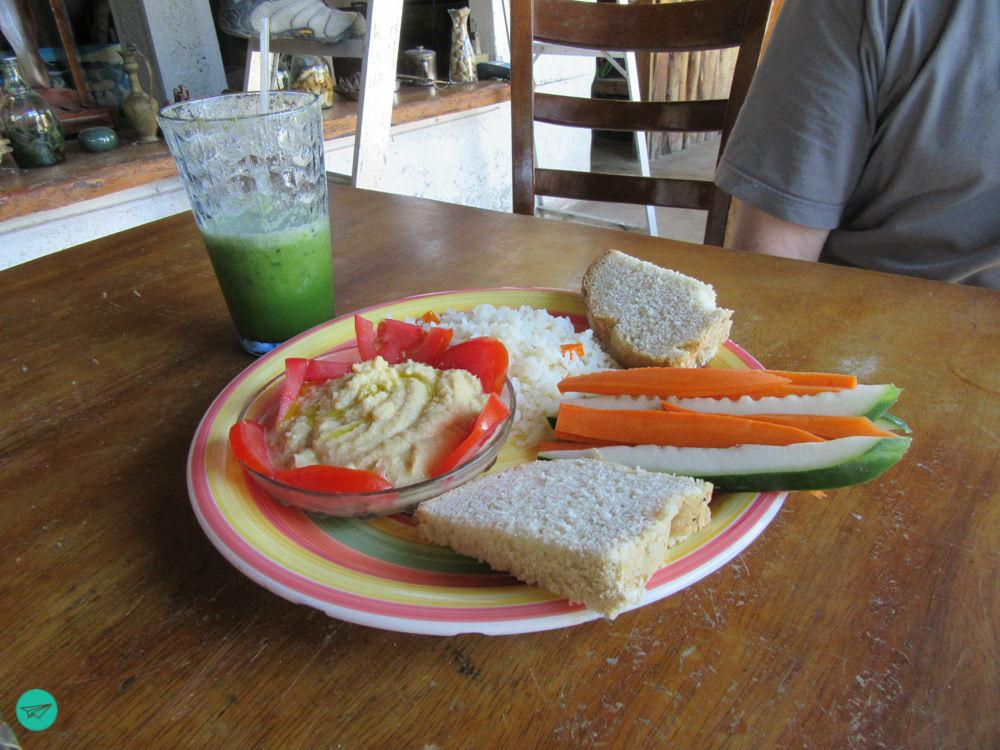 veg Essen und Smoothie