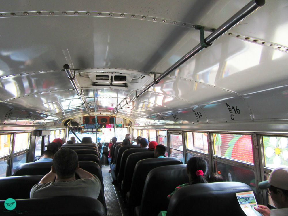 at the chicken bus