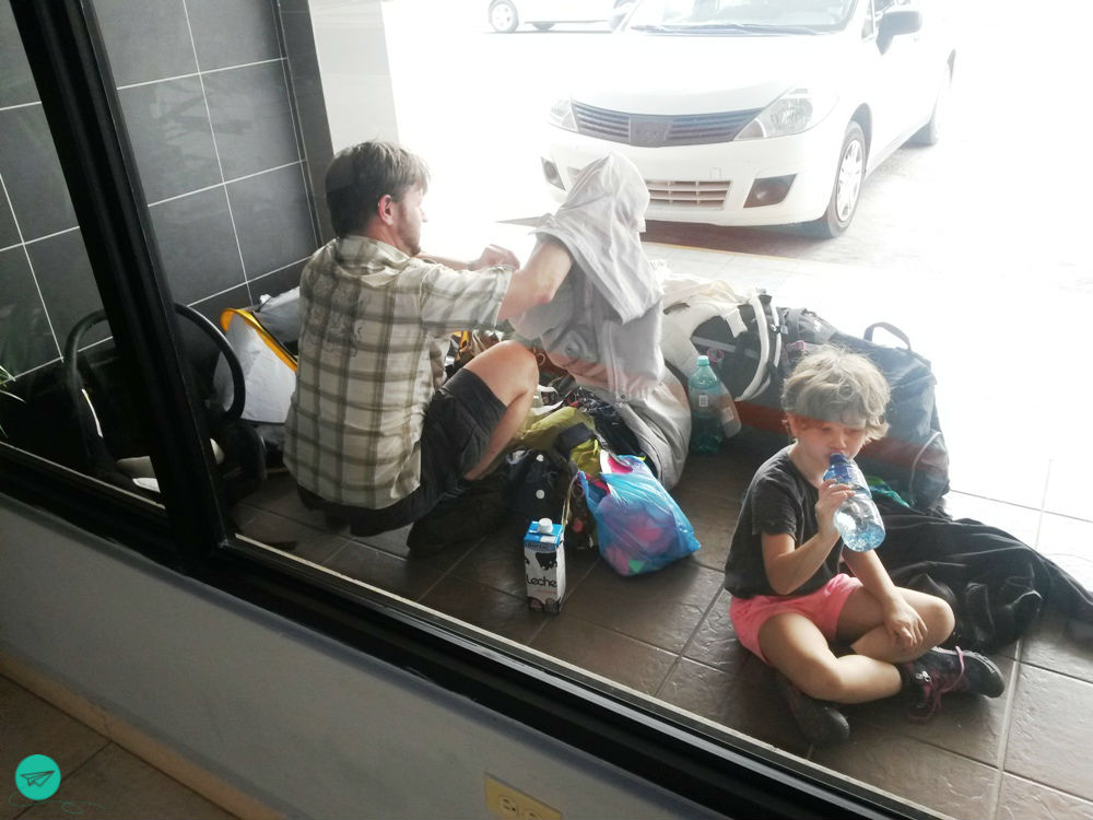 waiting for rental car