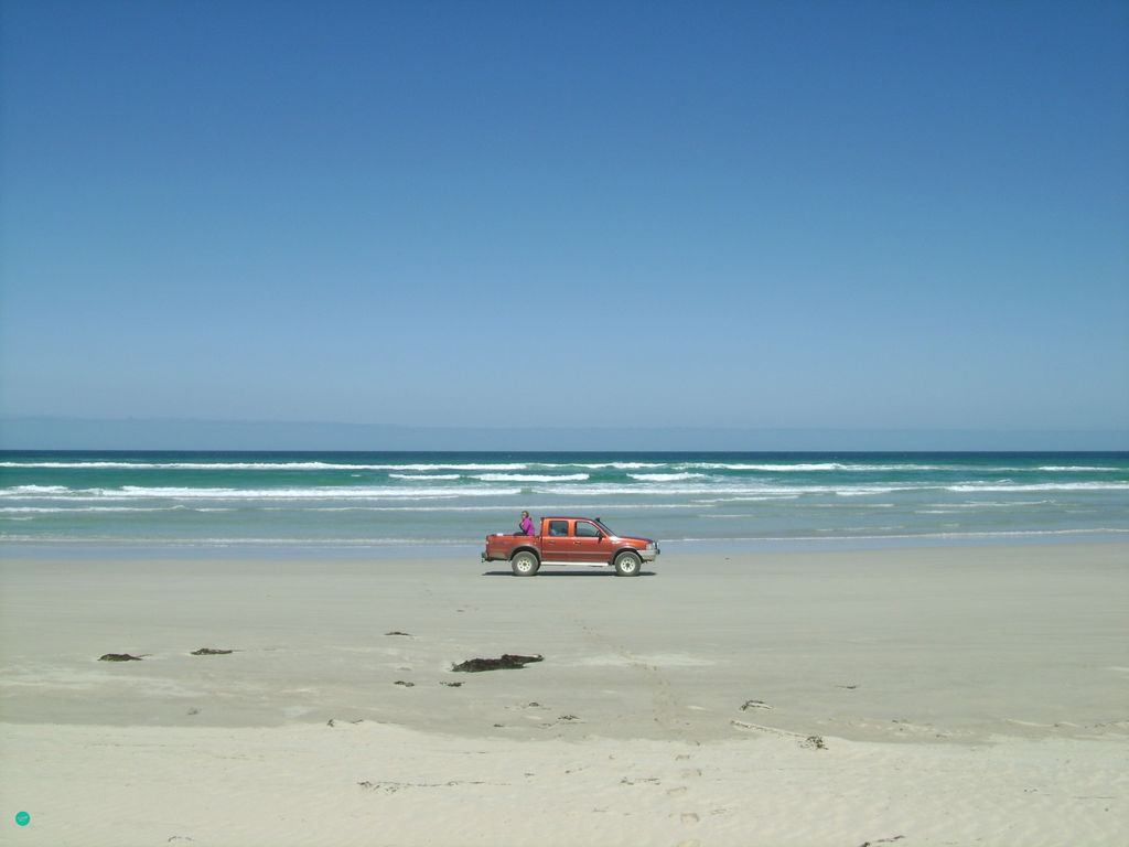 Me in a car at Limestone coast in Australia