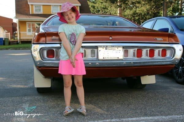 Big J and a american car