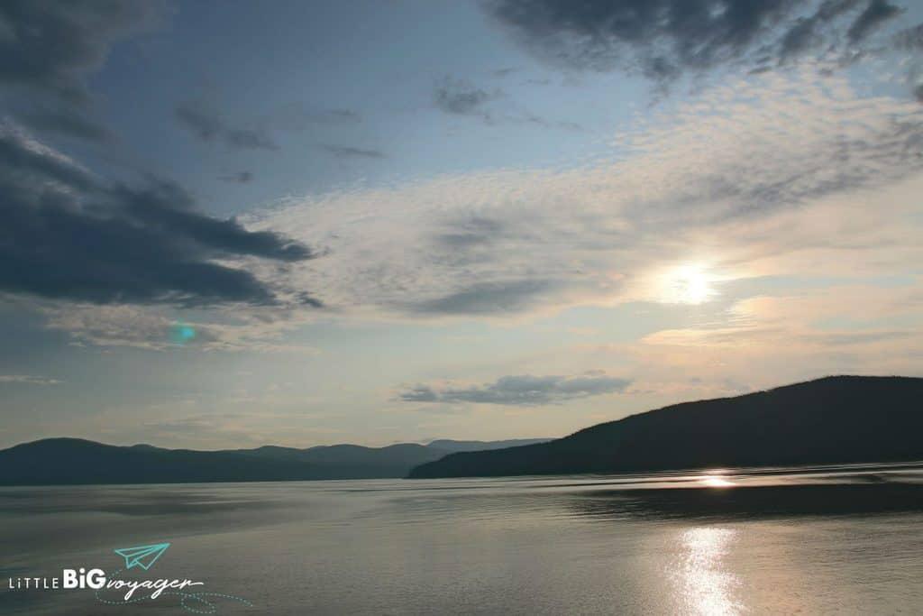 Sunset at Saint Lawrence River
