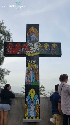 cross at parque cerro San Cristobal