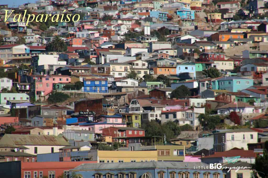 One of the colourful hills of Valparaiso