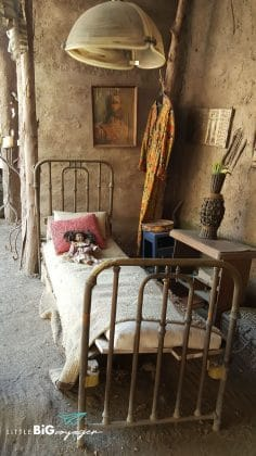 old original bed at the african sector of zoo buin