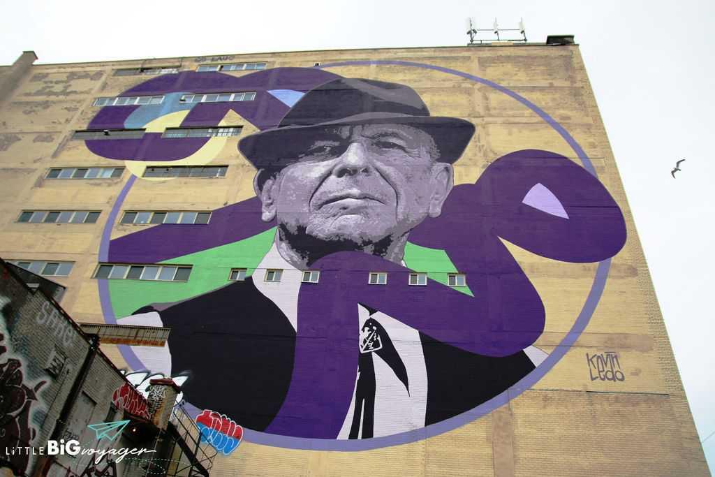 Leonhard Cohen mural 2018