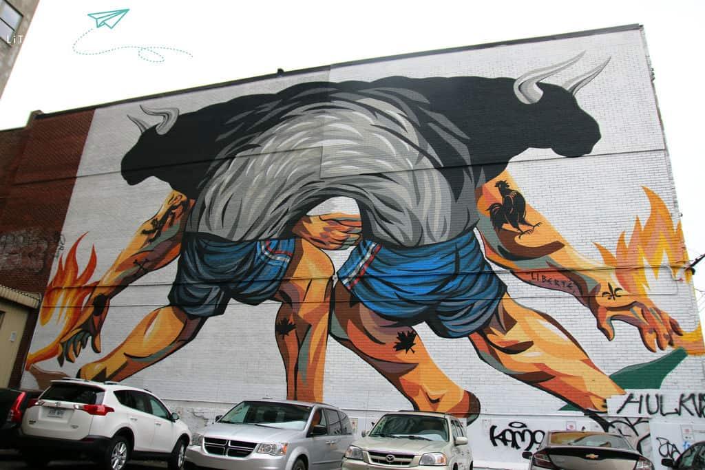 Toros mural Montreal 2018